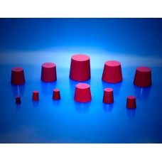 Red Rubber Bung 6.5/3.5mm