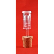 Bored Cork Bung 46/36mm + 3 Piece Plastic Airlock