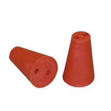 Drilled Rubber Bung (2) 27/21mm