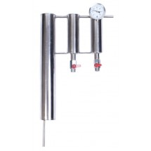 Stainless Steel Distillation Condenser 45cm with Settlers (2) and Thermometer