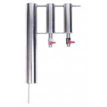 Stainless Steel Distillation Condenser 45cm with 2 Settles
