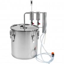 Stainless steel 30l distiller + 2 clarifiers