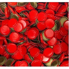 Crown Caps - Red - 50pcs