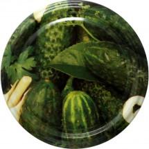 Jar Lids 10pcs 82 mm - Cucumbers