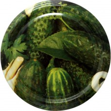 Jar Lids 10pcs 82 mm - Cucumbers