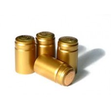 Shrink Caps - Gold - 100pcs
