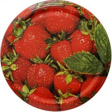Jar Lids 10pcs 82 mm - Strawberries