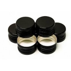 Screw Bottle Caps - Black - 26mm