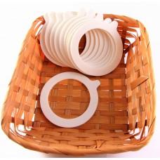 Jar Rubber Seal Rings 10pcs - White