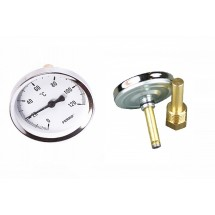 Rear Entry Bi-Metal Thermometer 0-120°C