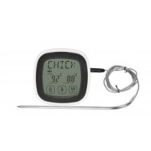 Touchscreen Digital Food Thermometer with Probe and Timer 250°C