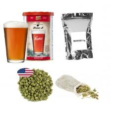 Brew Kit – Coopers IPA + Dextrose + Hop pellets + Muslin Bag