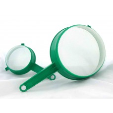Plastic strainer with handle 110mm - Green