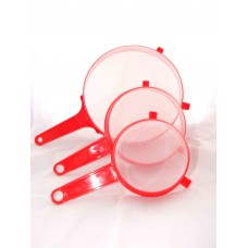 Plastic strainer with handle 110mm - Red