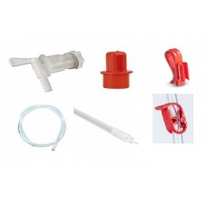 Plastic Tap + Sediment Reducer + Syphon Clip + Bucket Clip + Pvc Tube + Bottle Filler